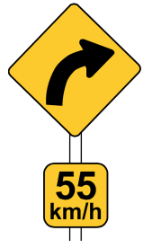 RUH_advisory_speed_sign