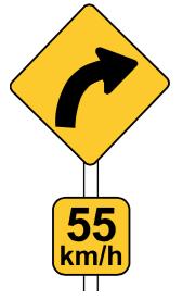 RUH_advisory_speed_sign